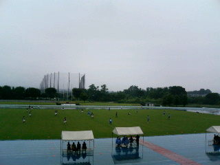 浜川運動公園陸上競技場。