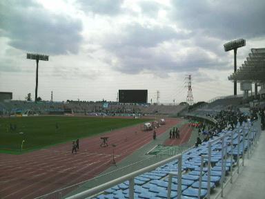 笠松運動公園陸上競技場。
