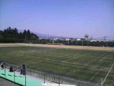 敷島公園サッカーラグビー場。
