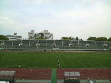 駒沢公園陸上競技場。