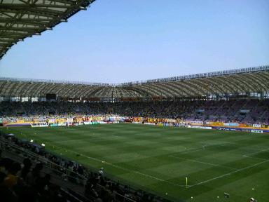 ユアテックスタジアム仙台。