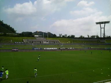 藤枝総合運動公園サッカー場。